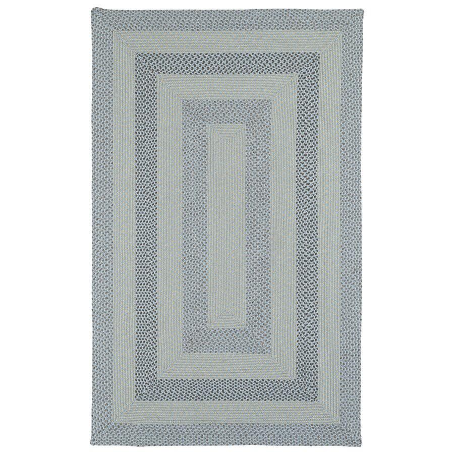 Kaleen Bimini Blue Rectangular Indoor and Outdoor Hand-Hooked Area Rug (Common: 8 x 11; Actual: 96-in W x 132-in L)