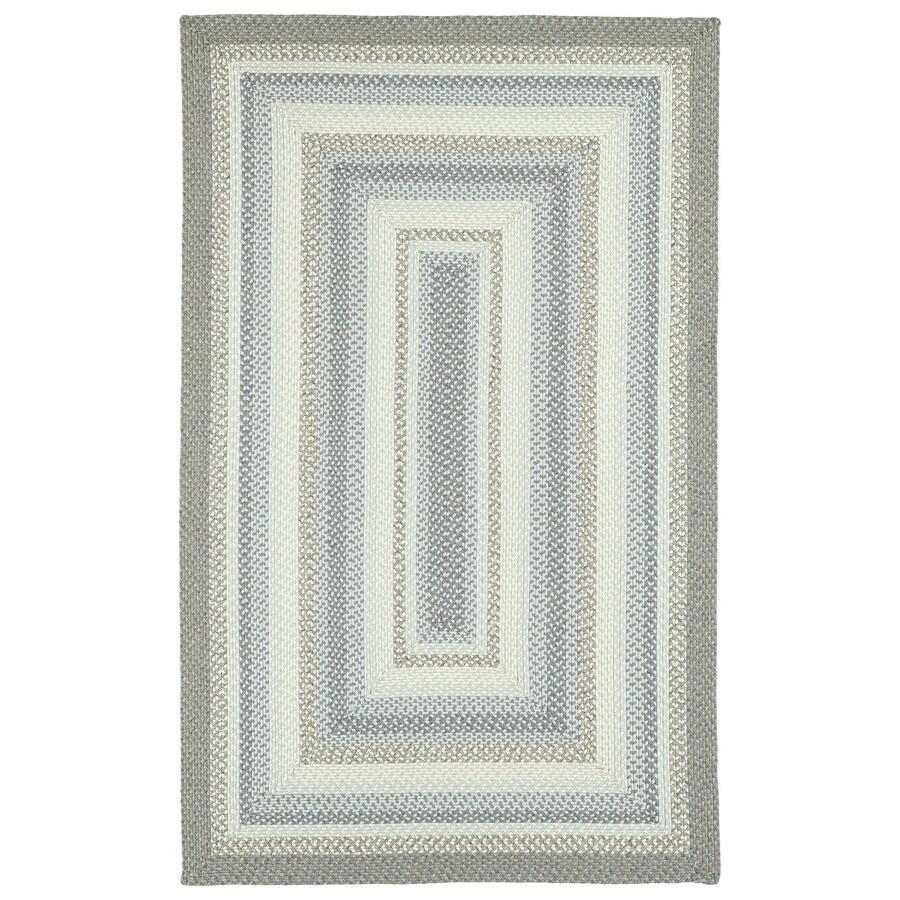 Kaleen Bimini Graphite Rectangular Indoor and Outdoor Hand-Hooked Area Rug (Common: 9 x 12; Actual: 108-in W x 144-in L)