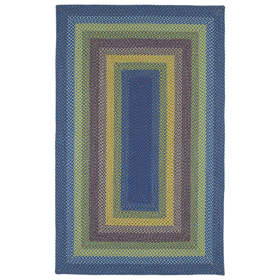 Kaleen Bimini Multicolor Rectangular Indoor and Outdoor Hand-Hooked Area Rug (Common: 5 x 8; Actual: 60-in W x 96-in L)