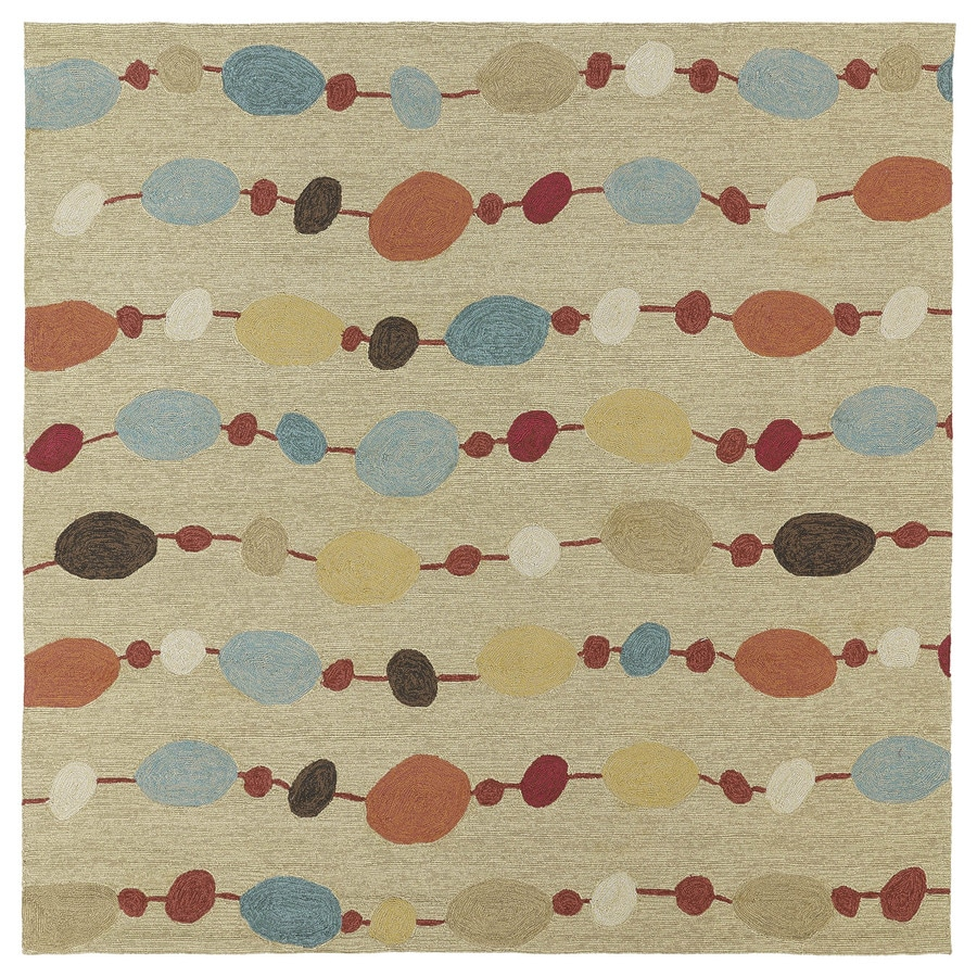 Kaleen Habitat Sand Square Indoor and Outdoor Tufted Area Rug (Common: 6 x 6; Actual: 69-in W x 69-in L)