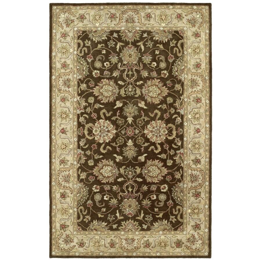 Kaleen Heirloom Brown Rectangular Indoor Tufted Area Rug (Common: 4 x 6; Actual: 48-in W x 72-in L)