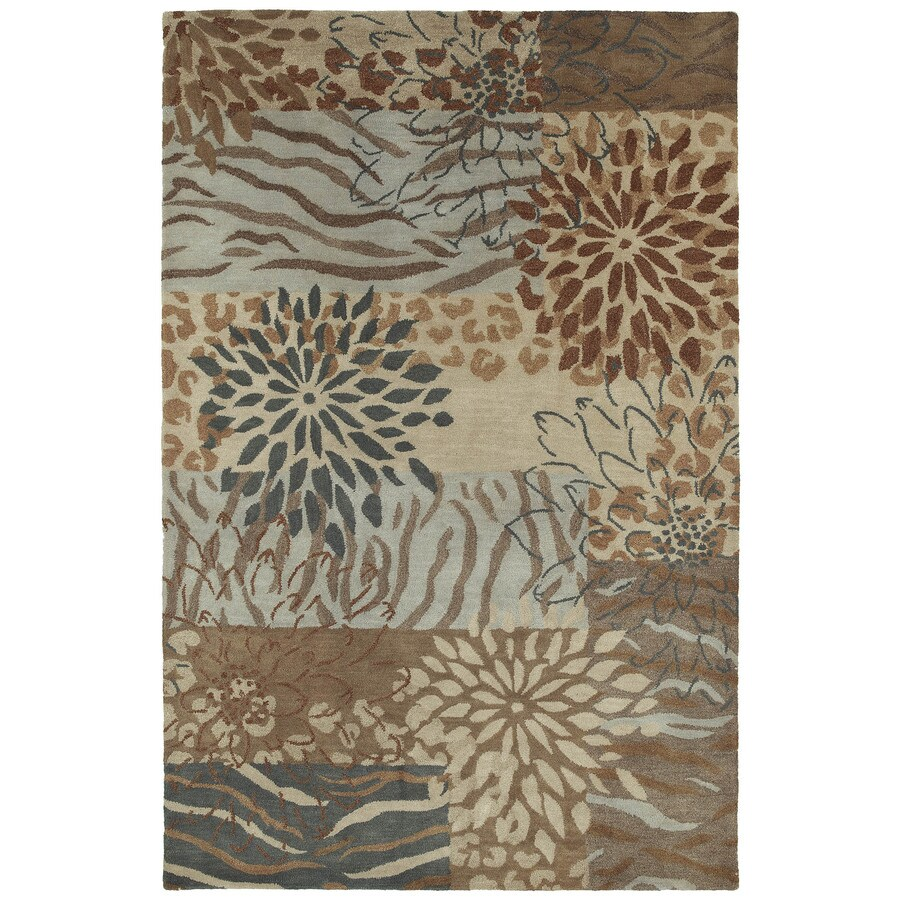 Kaleen Botany Decolores Rectangular Indoor Hand-Hooked Area Rug (Common: 5 x 8; Actual: 60-in W x 90-in L)