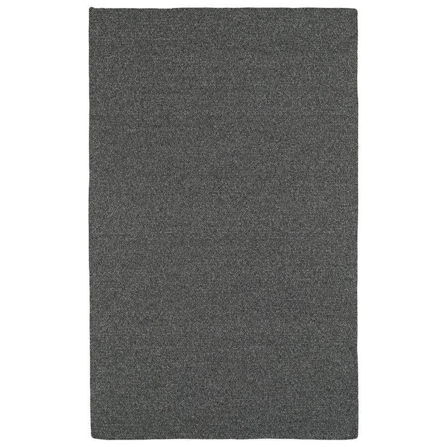 Kaleen Bikini Charcoal Rectangular Indoor and Outdoor Hand-Hooked Area Rug (Common: 9 x 12; Actual: 108-in W x 144-in L)