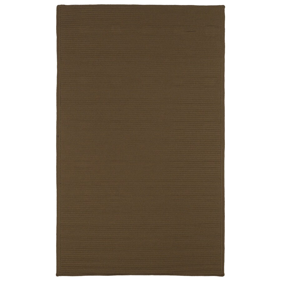 Kaleen Bikini Chocolate Rectangular Indoor and Outdoor Hand-Hooked Area Rug (Common: 9 x 12; Actual: 108-in W x 144-in L)