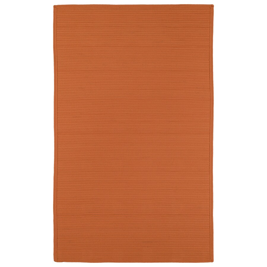 Kaleen Bikini Orange Rectangular Indoor and Outdoor Hand-Hooked Area Rug (Common: 9 x 12; Actual: 108-in W x 144-in L)