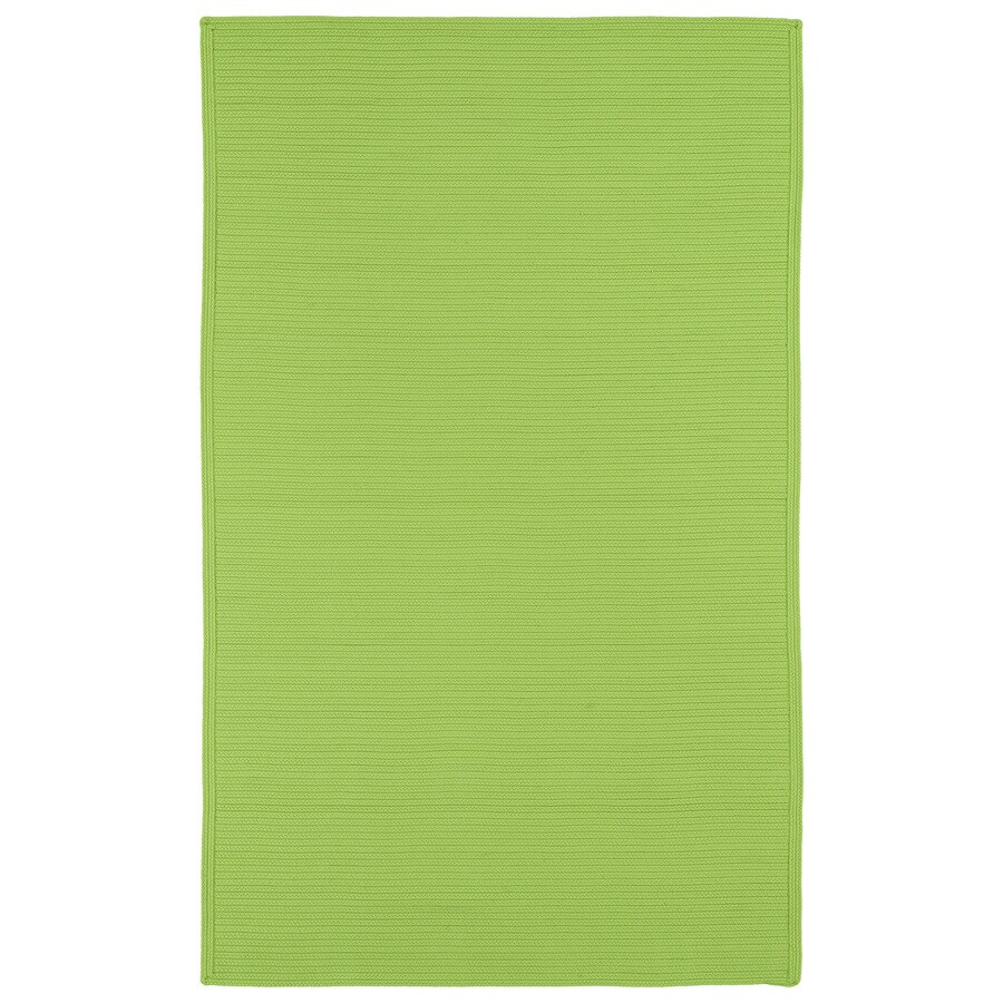 Kaleen Bikini Lime Green Rectangular Indoor and Outdoor Hand-Hooked Area Rug (Common: 9 x 12; Actual: 108-in W x 144-in L)