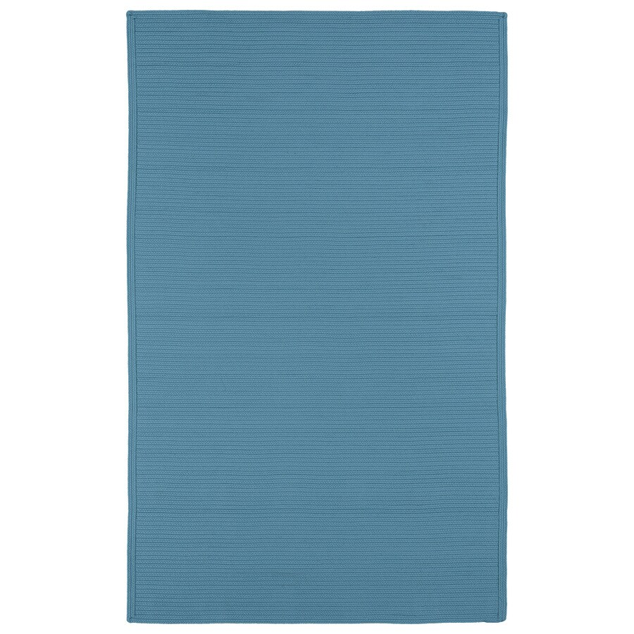 Kaleen Bikini Teal Rectangular Indoor and Outdoor Hand-Hooked Area Rug (Common: 8 x 11; Actual: 96-in W x 132-in L)