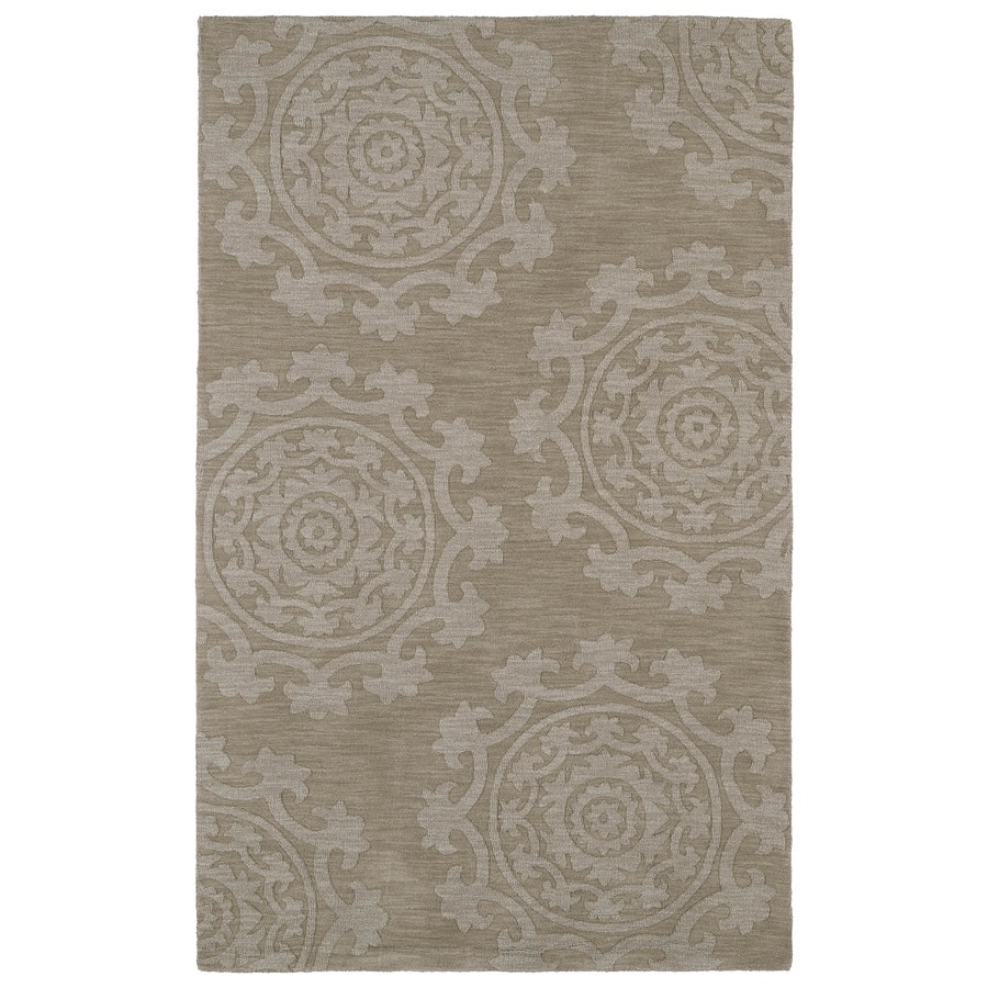 Kaleen Imprints Classic Light Brown Rectangular Indoor Tufted Throw Rug (Common: 2 x 3; Actual: 24-in W x 36-in L)