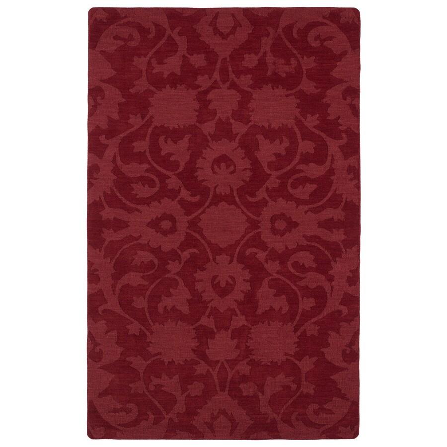 Kaleen Imprints Classic Red Rectangular Indoor Tufted Area Rug (Common: 5 x 8; Actual: 60-in W x 96-in L)