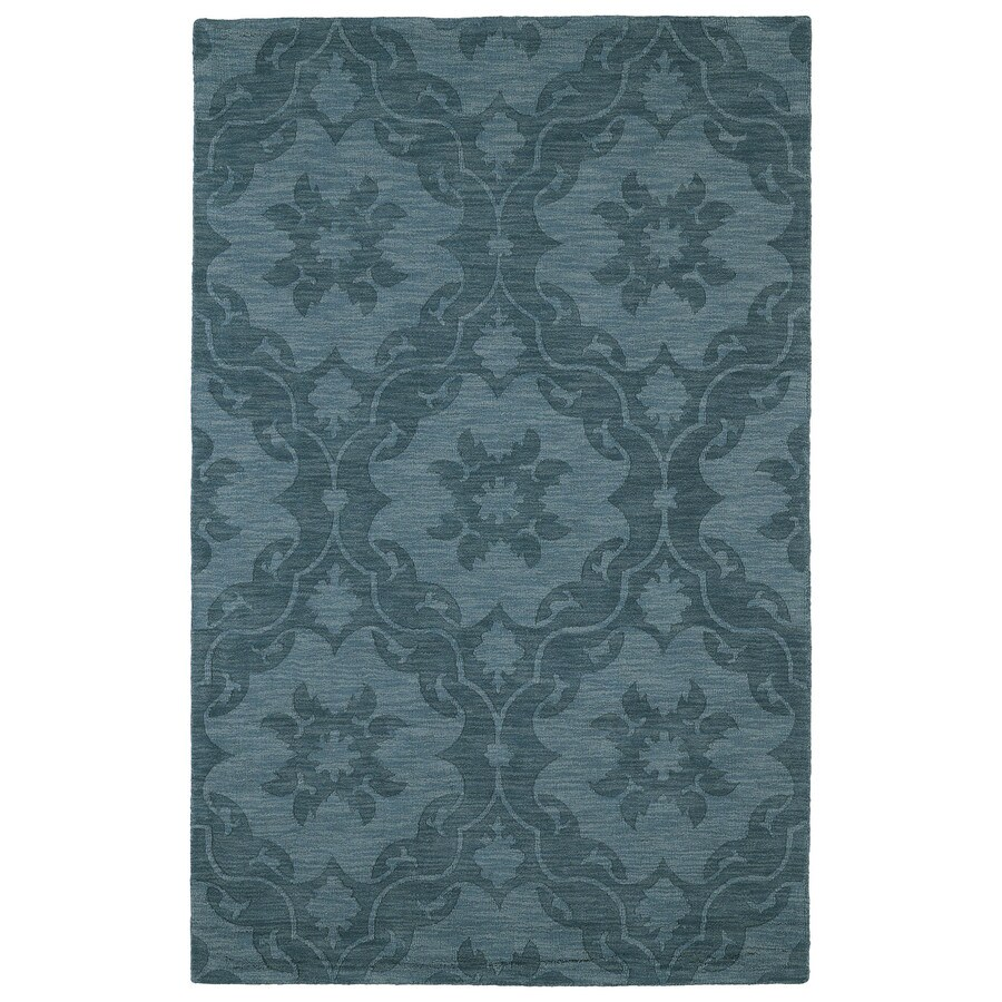 Kaleen Imprints Classic Turquoise Rectangular Indoor Tufted Throw Rug (Common: 2 x 3; Actual: 24-in W x 36-in L)