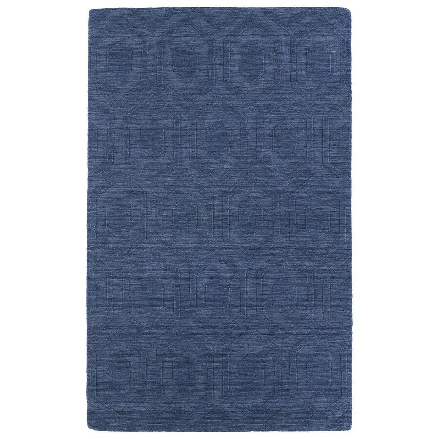 Kaleen Imprints Modern Blue Rectangular Indoor Tufted Area Rug (Common: 4 x 6; Actual: 42-in W x 66-in L)