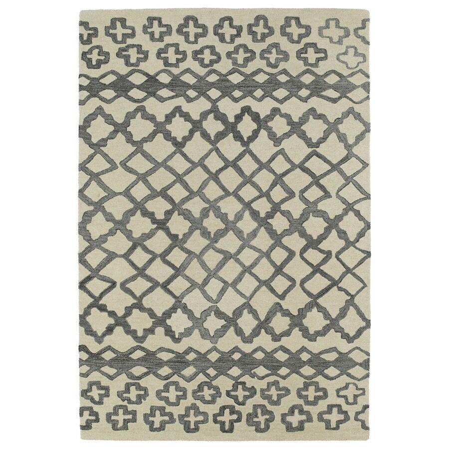 Kaleen Casablanca Grey Rectangular Indoor Tufted Moroccan Area Rug (Common: 5 x 8; Actual: 60-in W x 96-in L)