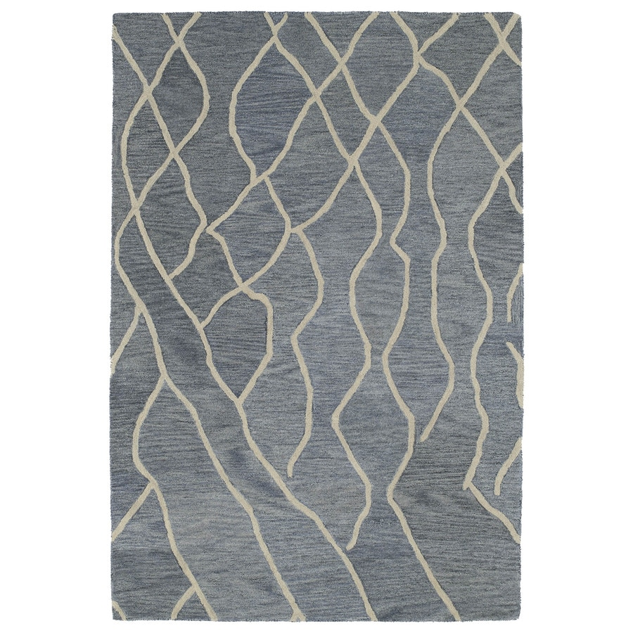 Kaleen Casablanca Grey Rectangular Indoor Tufted Moroccan Area Rug (Common: 8 x 11; Actual: 96-in W x 132-in L)