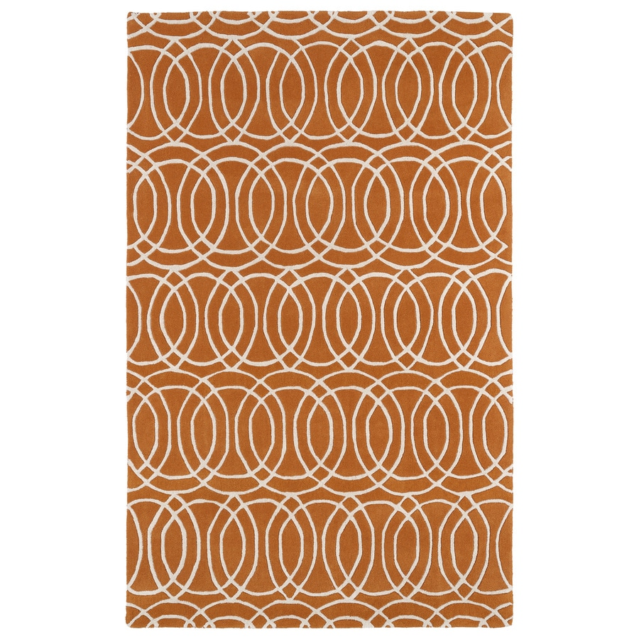 Kaleen Revolution Orange Rectangular Indoor Tufted Novelty Area Rug (Common: 5 x 8; Actual: 60-in W x 108-in L)