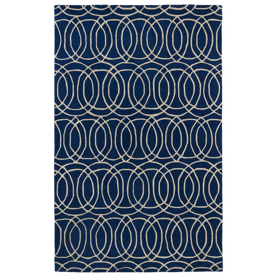 Kaleen Revolution Navy Rectangular Indoor Tufted Novelty Area Rug (Common: 5 x 8; Actual: 60-in W x 108-in L)