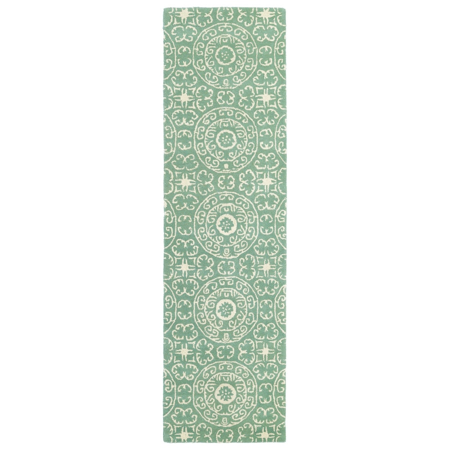 Kaleen Evolution Mint Rectangular Indoor Tufted Novelty Runner (Common: 2 x 6; Actual: 27-in W x 72-in L)