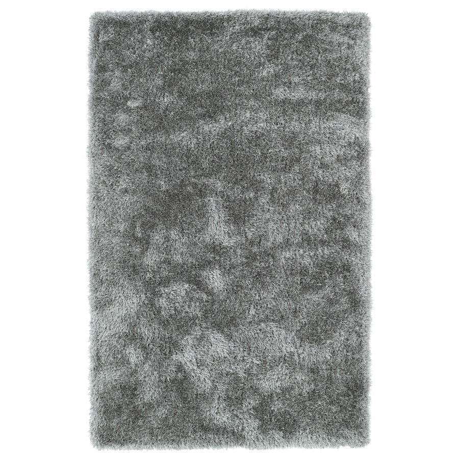 Kaleen Posh Silver Rectangular Indoor Tufted Kids Area Rug (Common: 8 x 10; Actual: 96-in W x 120-in L)