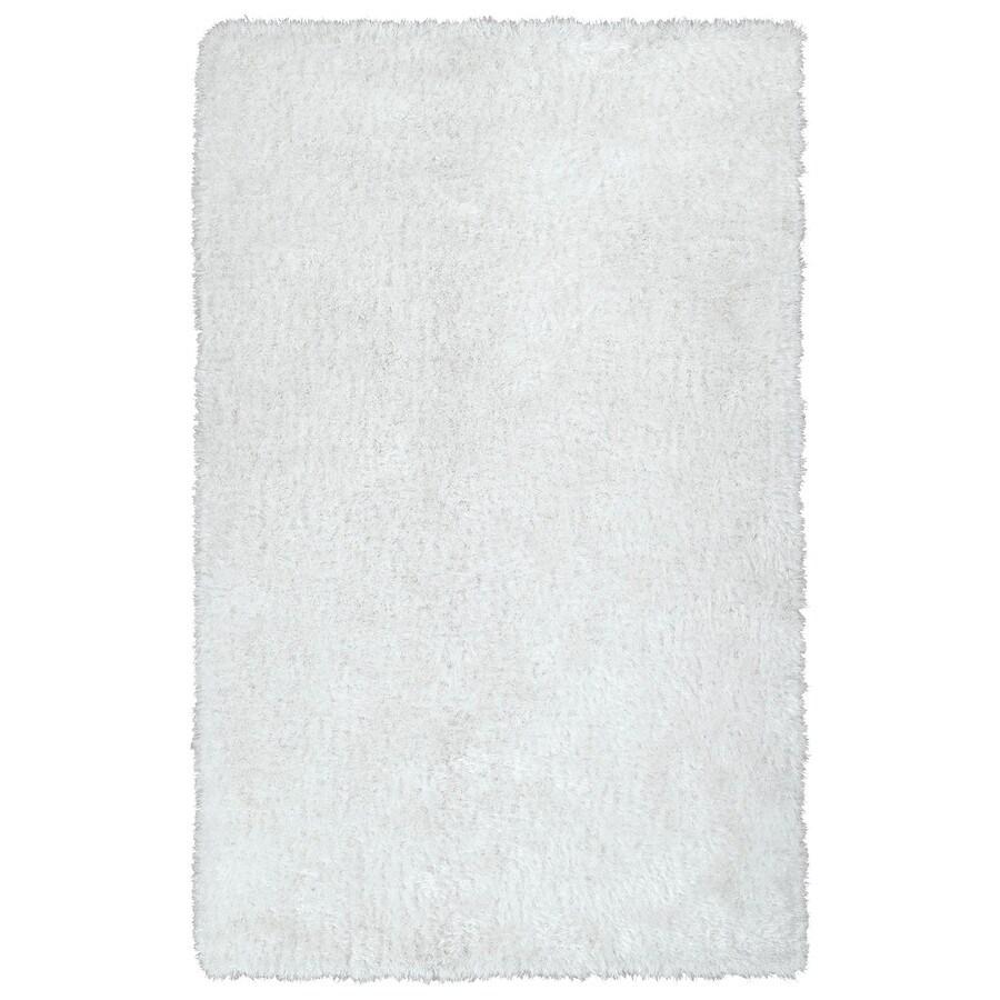 Kaleen Posh White Rectangular Indoor Tufted Kids Area Rug (Common: 8 x 10; Actual: 96-in W x 120-in L)