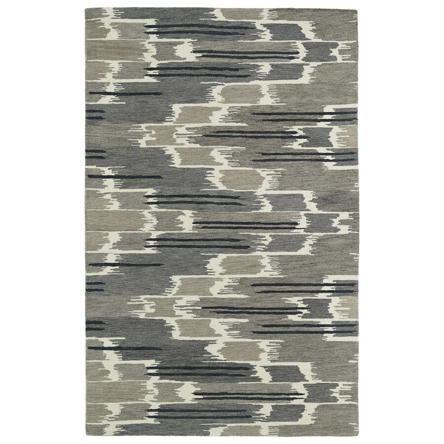 Kaleen Global Inspiration Grey Rectangular Indoor Tufted Southwestern Area Rug (Common: 5 x 8; Actual: 60-in W x 93-in L)