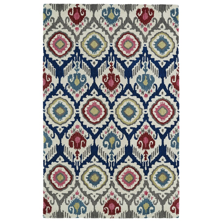 Kaleen Global Inspiration Multicolor Rectangular Indoor Tufted Southwestern Area Rug (Common: 8 x 10; Actual: 96-in W x 120-in L)
