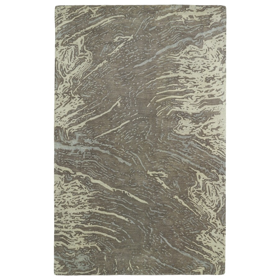 Kaleen Brushstrokes Brown Rectangular Indoor Tufted Distressed Area Rug (Common: 8 x 11; Actual: 96-in W x 132-in L)