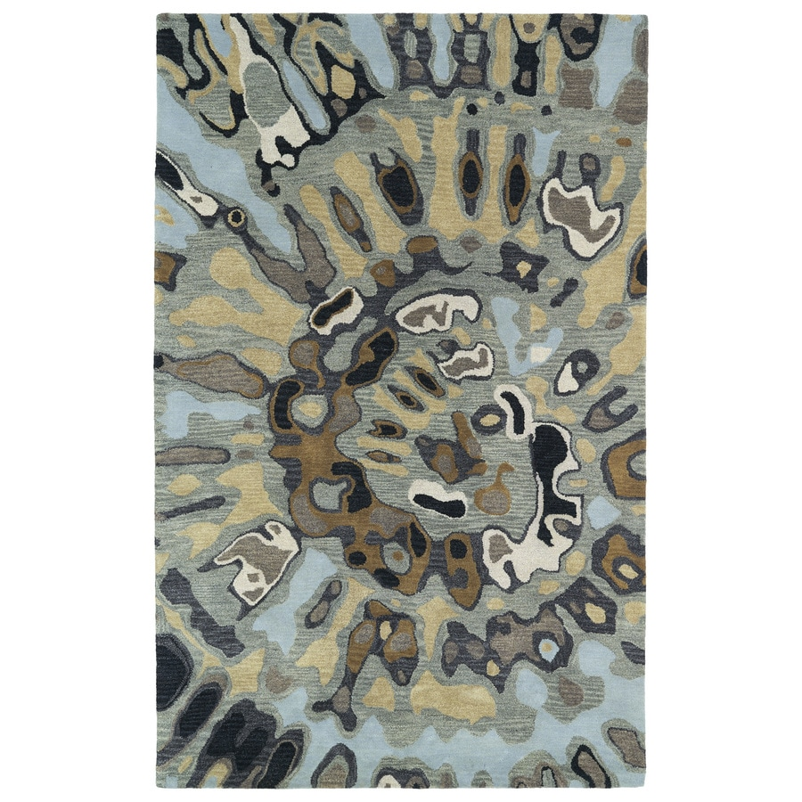 Kaleen Brushstrokes Multicolorcolor Rectangular Indoor Tufted Distressed Area Rug (Common: 4 x 6; Actual: 42-in W x 66-in L)