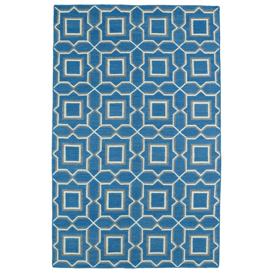 Kaleen Glam Teal Rectangular Indoor Woven Southwestern Area Rug (Common: 4 x 6; Actual: 42-in W x 66-in L)