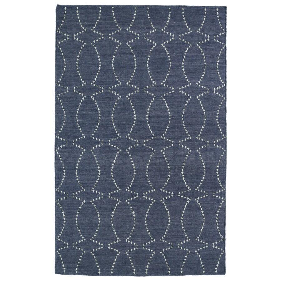 Kaleen Glam Grey Rectangular Indoor Woven Novelty Area Rug (Common: 5 x 8; Actual: 60-in W x 96-in L)