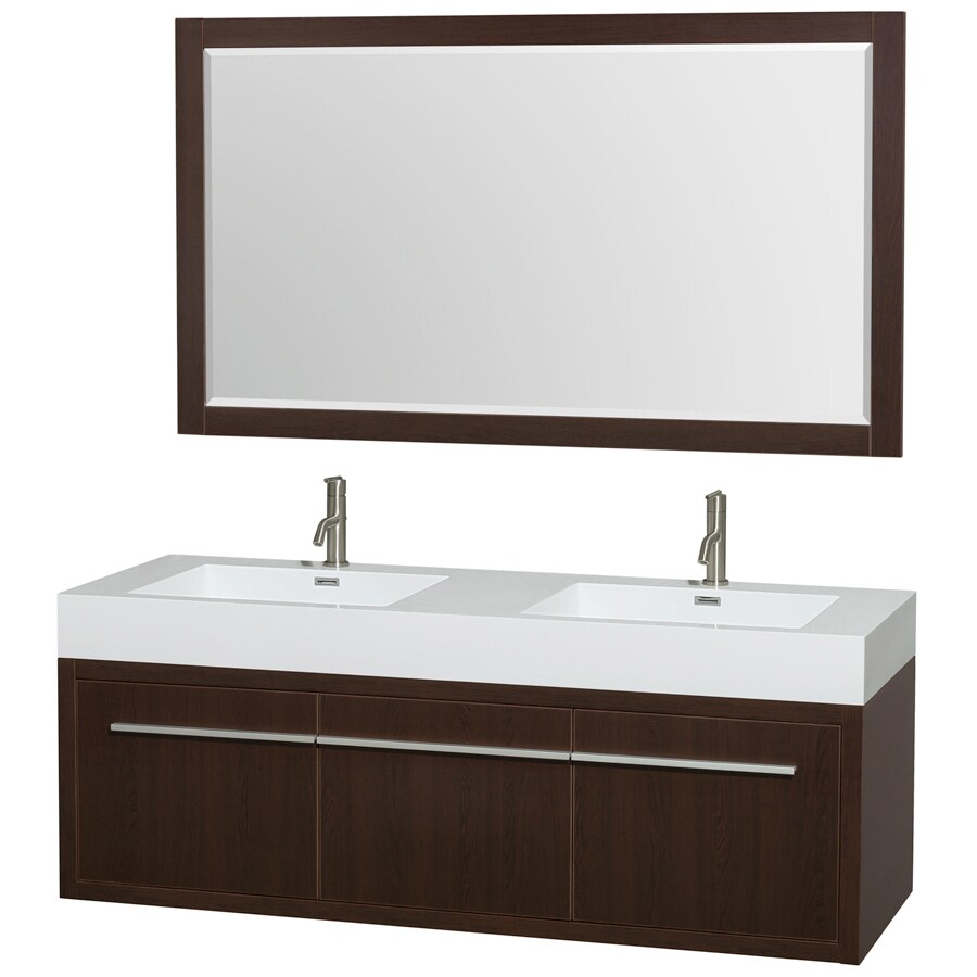 Shop Wyndham Collection Axa Espresso Integral Double Sink