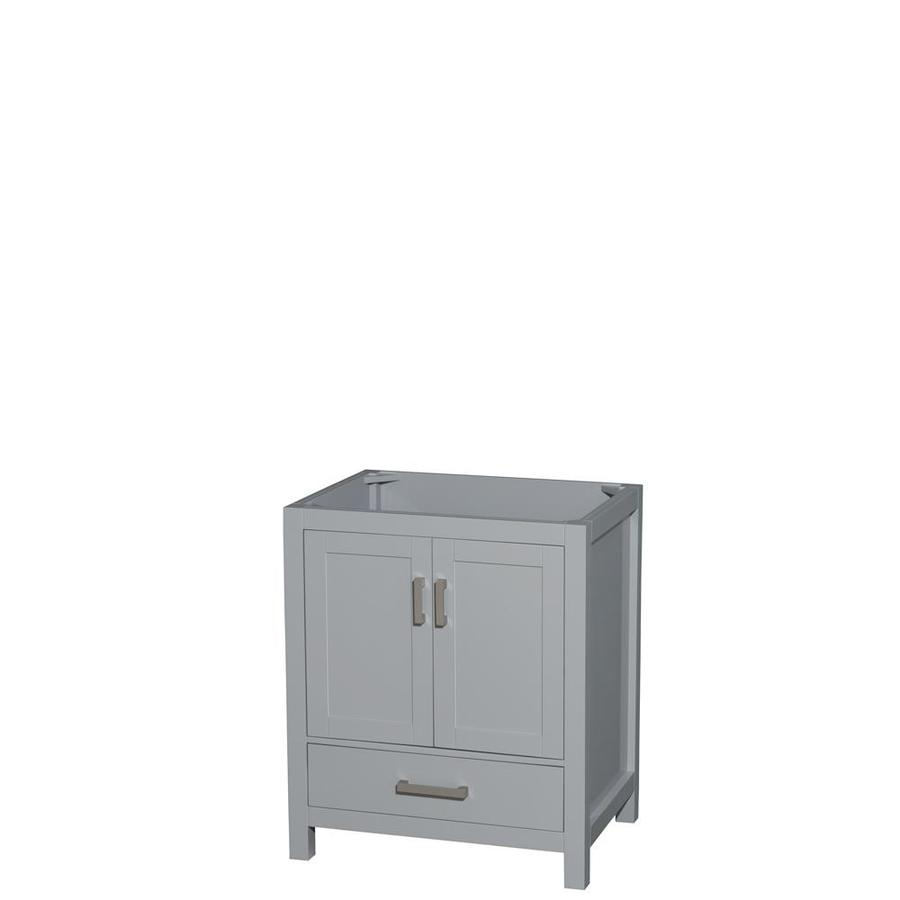 Wyndham Collection Sheffield Gray Transitional Bathroom Vanity (Common: 30-in x 22-in; Actual: 29-in x 21.75-in)