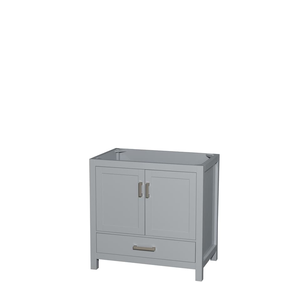 Wyndham Collection Sheffield Gray Transitional Bathroom Vanity (Common: 36-in x 22-in; Actual: 35-in x 21.5-in)