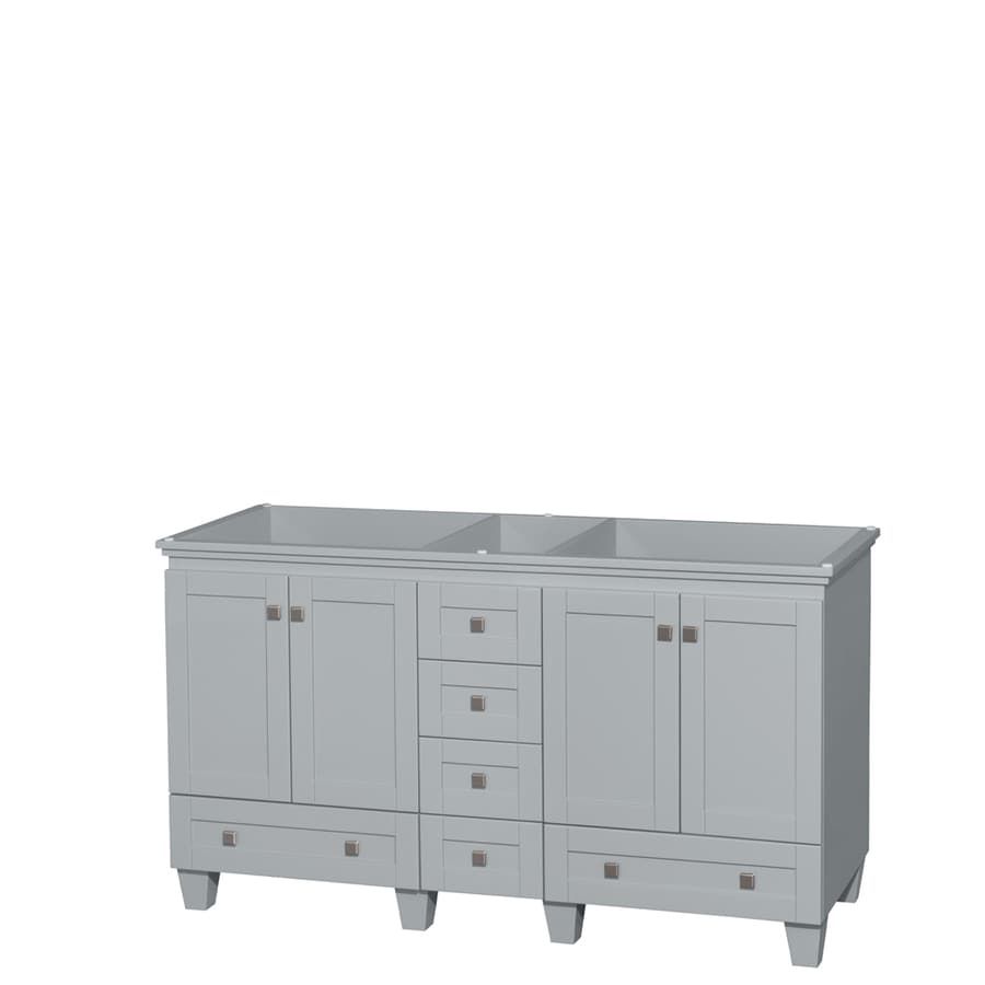 Wyndham Collection Acclaim Oyster Gray Transitional Bathroom Vanity (Common: 60-in x 22-in; Actual: 59-in x 21.5-in)