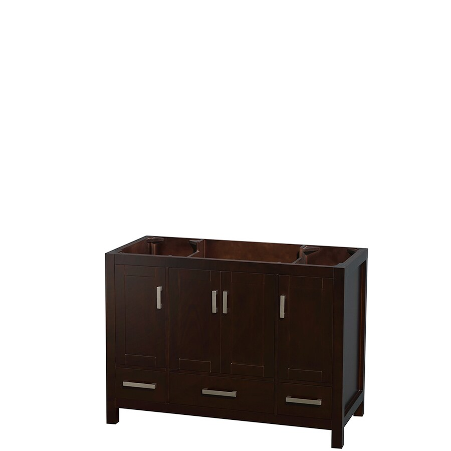 Wyndham Collection Sheffield Espresso Transitional Bathroom Vanity (Common: 48-in x 22-in; Actual: 47-in x 21.5-in)