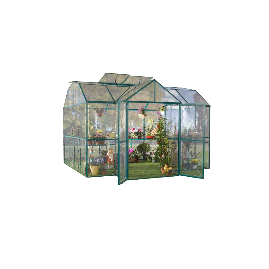 STC 10-ft L x 10-ft W x 9-ft H Metal Greenhouse