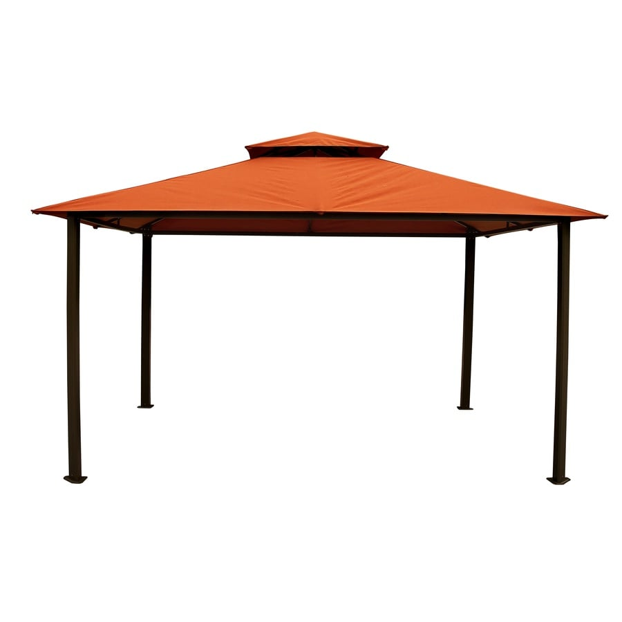 Shop stc burnt orange rectangle gazebo foundation 9 8 ft x at - Build rectangular gazebo guide models ...
