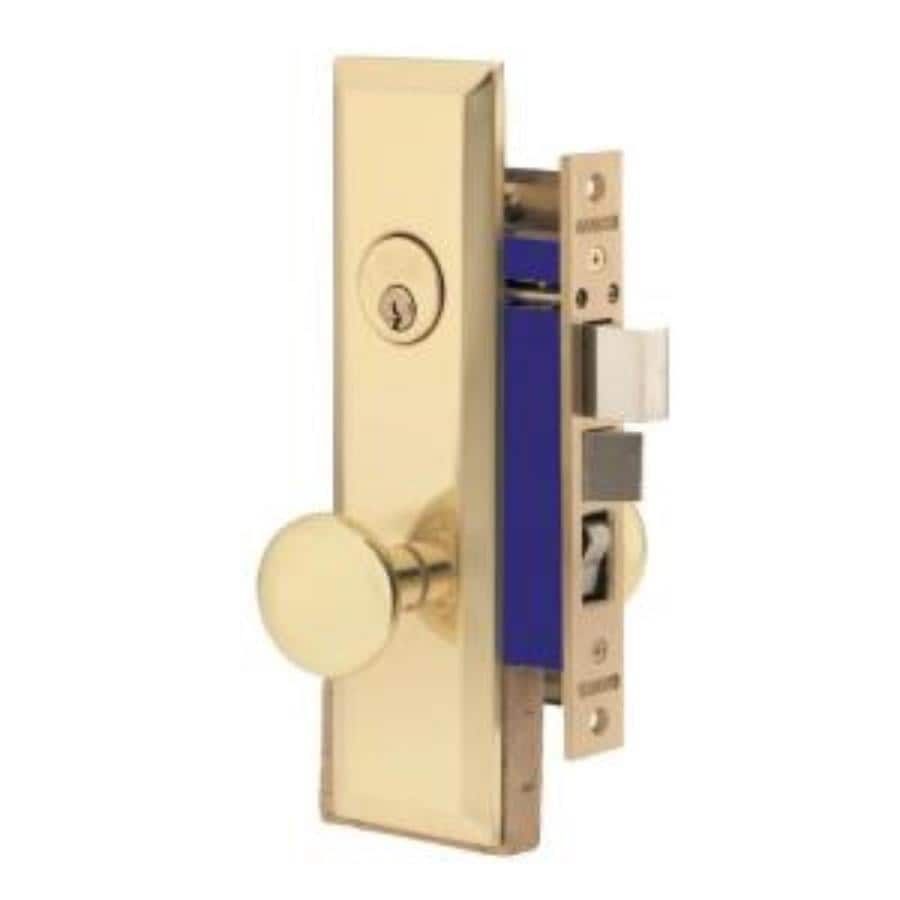 Brass SecureKey Mortise-Lock Keyed Entry Door Handleset