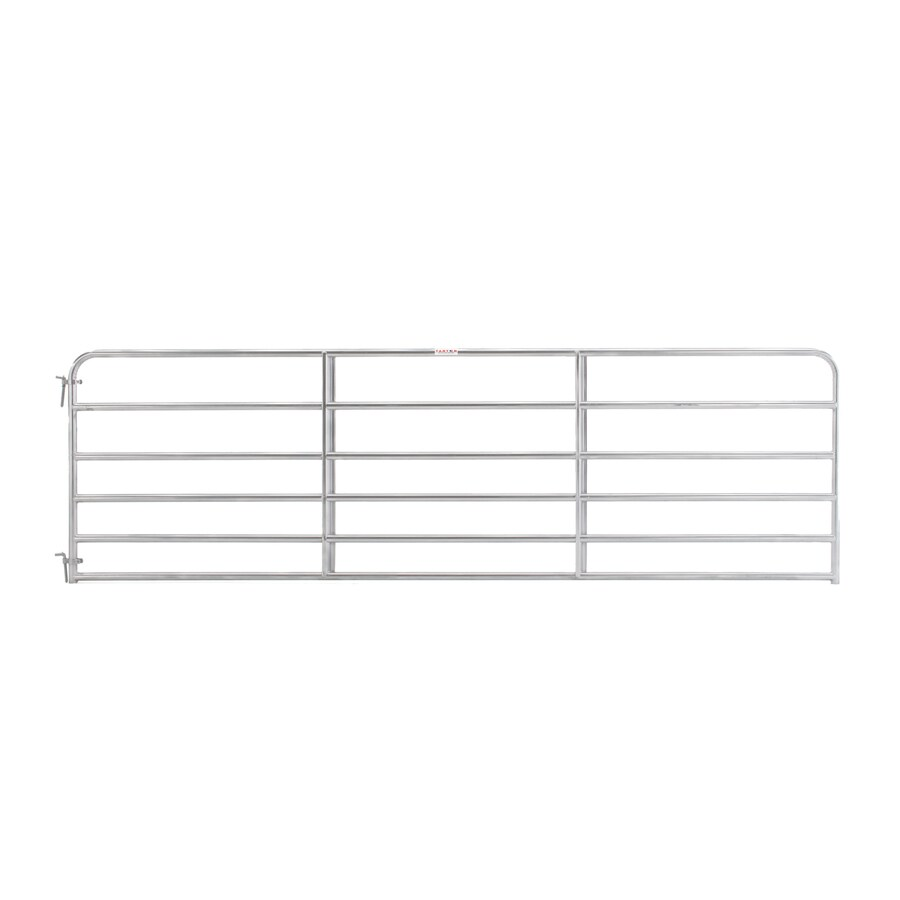 Tarter Galvanized Metal Steel (Not Wood) Farm Fence Gate (Common: 14-ft x 4.16-ft; Actual: 13.75-ft x 4.16 Feet)
