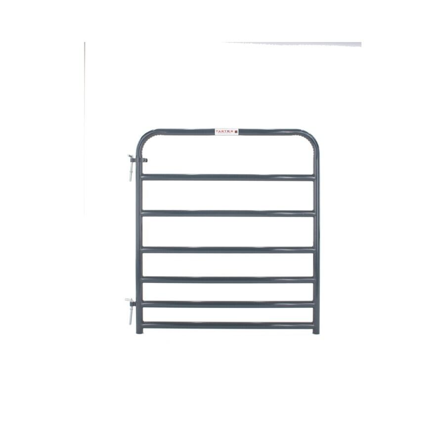 Tarter Blue E-Coat Metal Steel (Not Wood) Farm Fence Gate (Common: 4-ft x 4.16-ft; Actual: 3.75-ft x 4.16 Feet)