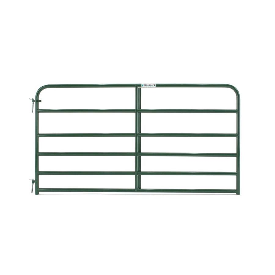 Tarter Green Powder Over E-Coat Metal Steel (Not Wood) Farm Fence Gate (Common: 8-ft x 4.16-ft; Actual: 7.75-ft x 4.16 Feet)