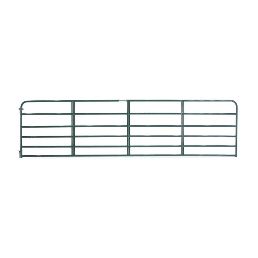 Tarter Green Powder Over E-Coat Metal Steel (Not Wood) Farm Fence Gate (Common: 16-ft x 4.16-ft; Actual: 15.75-ft x 4.16 Feet)