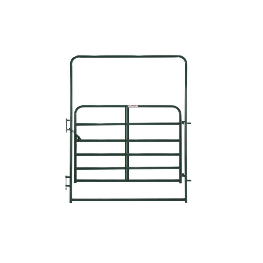 Tarter Green Powder Over E-Coat Metal Steel (Not Wood) Farm Fence Walk-Thru Gate (Common: 6-ft x 8-ft; Actual: 6.83-ft x 8 Feet)