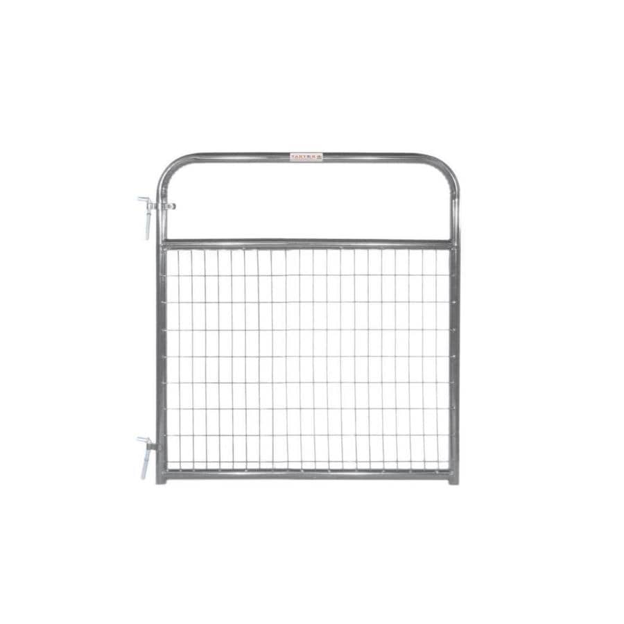 Tarter Gray Powder Over E-Coat Metal Steel (Not Wood) Farm Fence Gate (Common: 4-ft x 4.16-ft; Actual: 3.75-ft x 4.16 Feet)