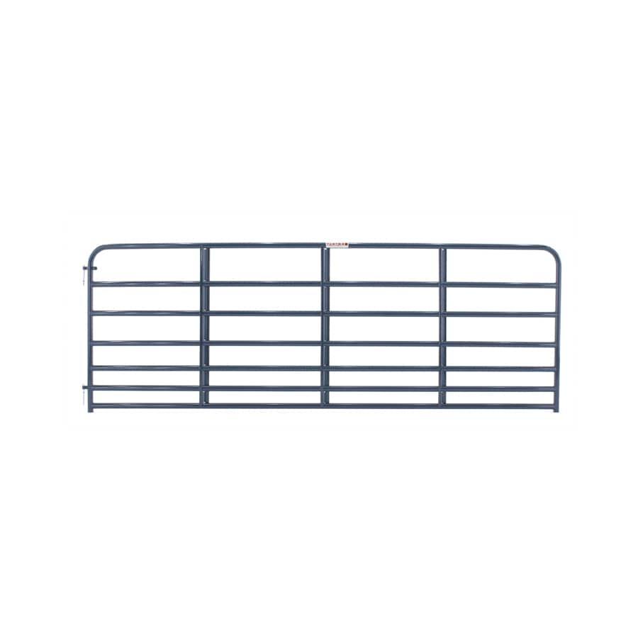Tarter Blue E-Coat Metal Steel (Not Wood) Farm Fence Gate (Common: 12-ft x 4.16-ft; Actual: 11.75-ft x 4.16 Feet)