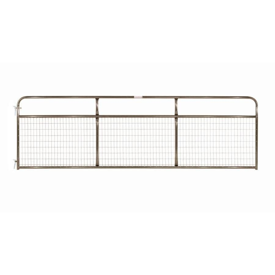 Tarter Brown Powder Coat Metal Steel (Not Wood) Farm Fence Gate (Common: 14-ft x 4.16-ft; Actual: 13.75-ft x 4.16 Feet)
