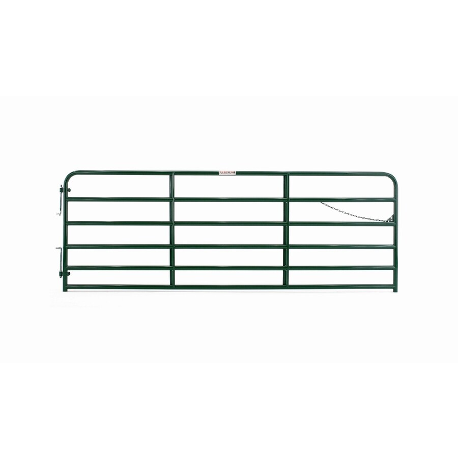 Tarter Green Powder Over E-Coat Metal Steel (Not Wood) Farm Fence Gate (Common: 16-ft x 4.33-ft; Actual: 15.75-ft x 4.33 Feet)