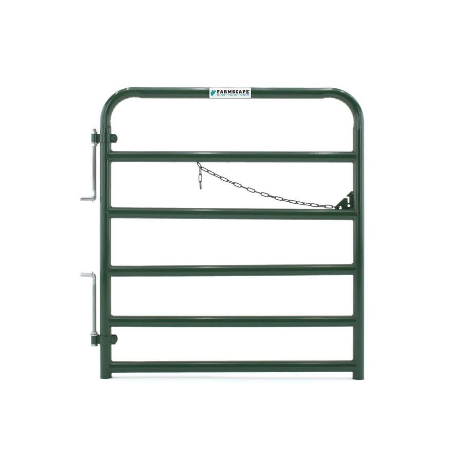 Tarter Green Powder Over E-Coat Metal Steel (Not Wood) Farm Fence Gate (Common: 4-ft x 4.33-ft; Actual: 3.75-ft x 4.33 Feet)