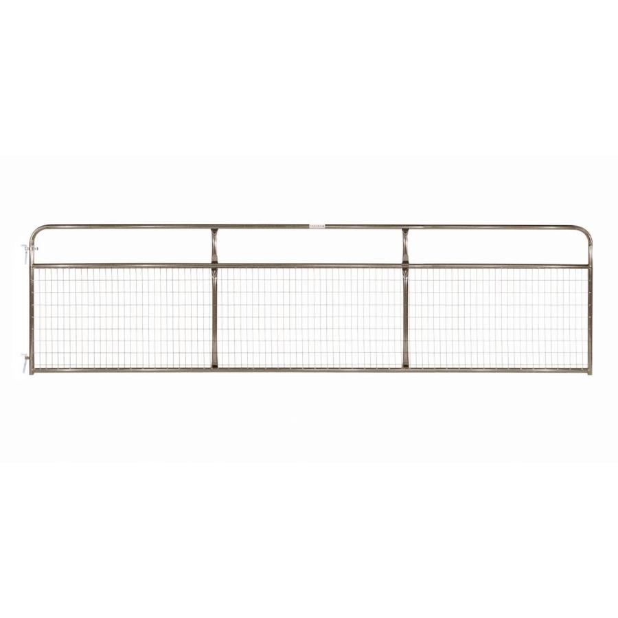 Tarter Brown Powder Coat Metal Steel (Not Wood) Farm Fence Gate (Common: 16-ft x 4.16-ft; Actual: 15.75-ft x 4.16 Feet)