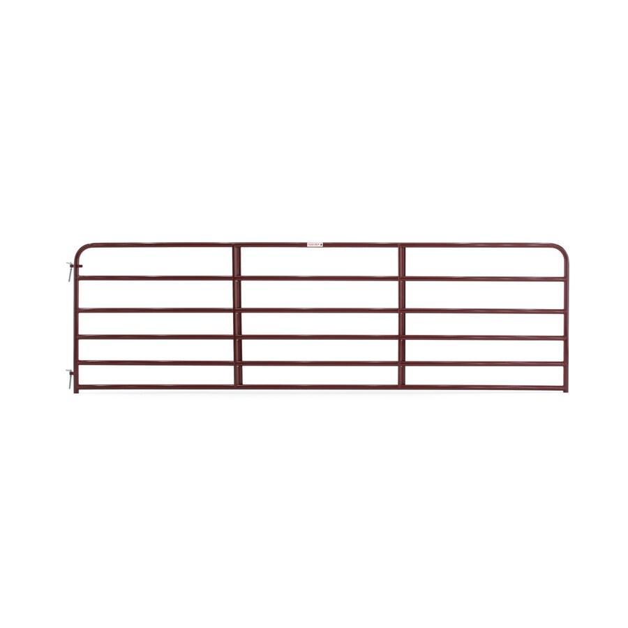 Tarter Red E-Coat Metal Steel (Not Wood) Farm Fence Gate (Common: 14-ft x 4.16-ft; Actual: 13.75-ft x 4.16 Feet)