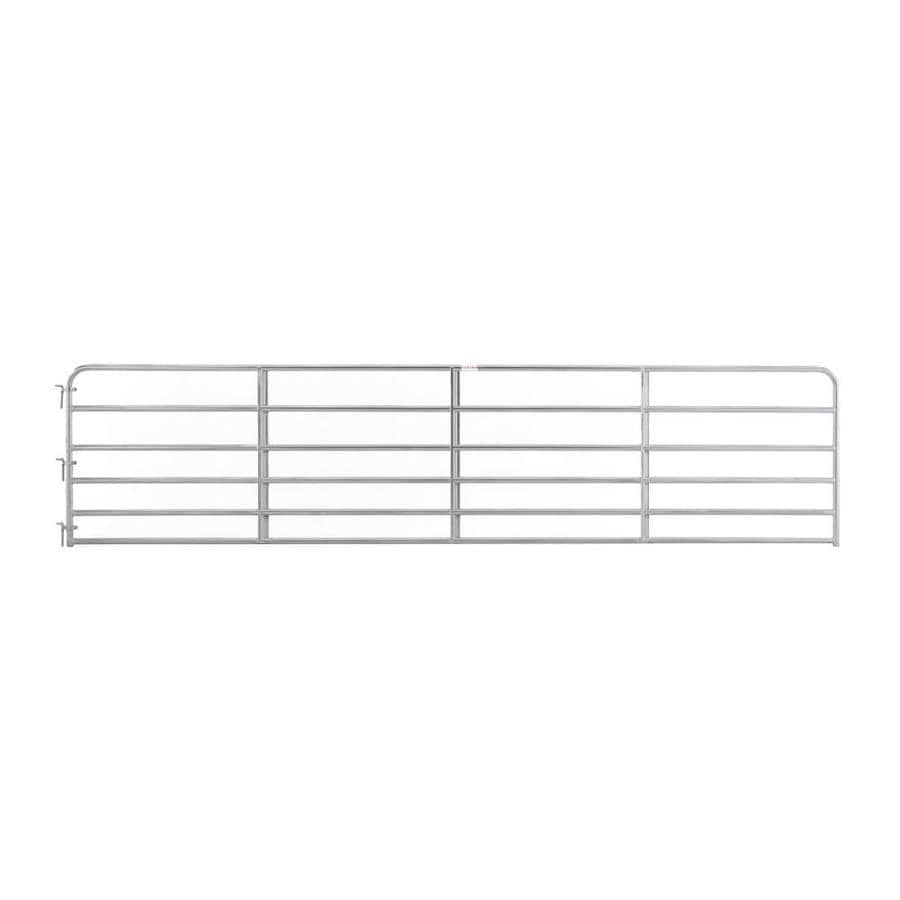 Tarter Red E-Coat Metal Steel (Not Wood) Farm Fence Gate (Common: 18-ft x 4.16-ft; Actual: 17.75-ft x 4.16 Feet)