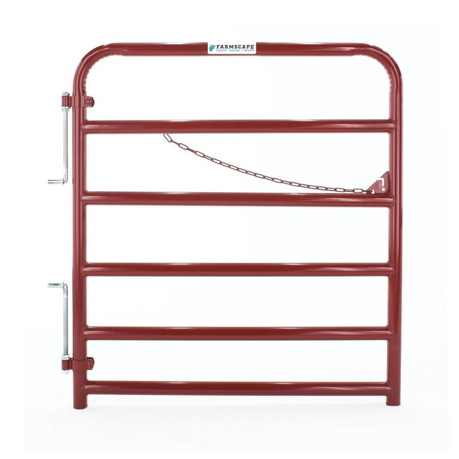 Tarter Red E-Coat Metal Steel (Not Wood) Farm Fence Gate (Common: 4-ft x 4.33-ft; Actual: 3.75-ft x 4.33 Feet)